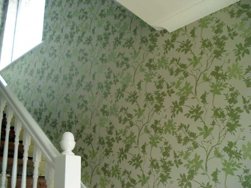 Painter and decorator interior exterior painting decorating for Wallpaper design for hall